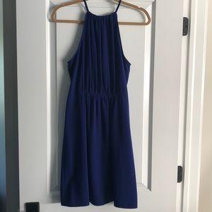 Blue Rouched Zara Dress